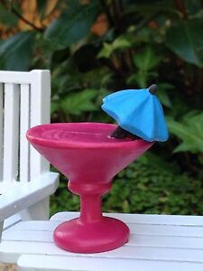 Miniature Dollhouse FAIRY GARDEN ~ Sea BEACH Island PINK Tropical Drink
