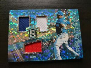 Willie Calhoun 2018 Spectra Baseball Patch Card /99 MLB Texas Rangers