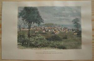 1891-Reclus-print-PUERTO-LIMON-amp-UVITA-ISLAND-COSTA-RICA-47