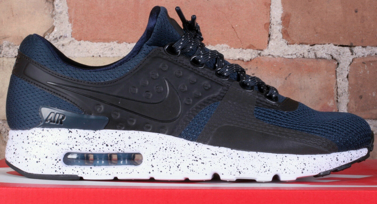 ... free shipping new nike running air max zero premium armory navy blue running  nike shoes 881982 18712b18b972