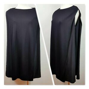 [ COS ]  Womens Black Silk detail Tunic Top   Size XS or AU 8 / US 4