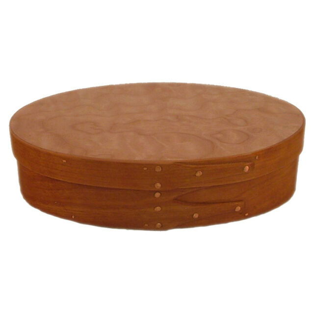 Cherry And Quilted Maple Wood Cremation Urn In Shaker Style Up To 56 Lbs