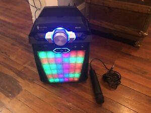 The Singing Machine Karaoke System SDL366 Microphone Singing Bluetooth