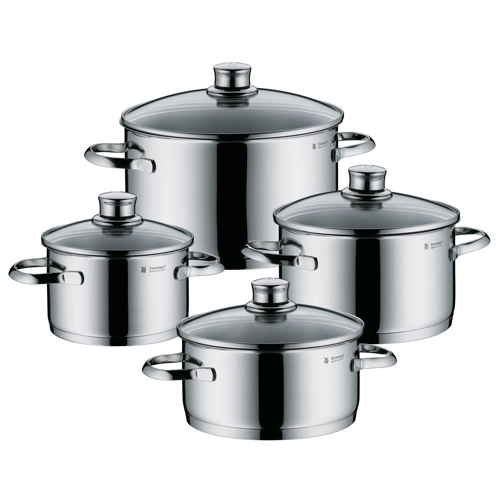 WMF olla-set zafiro 4 piezas de acero inoxidable inoxidable NUEVO