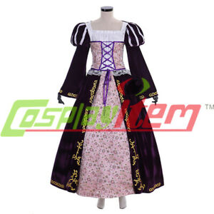 298a0068c Image is loading Tangled-Princess-Rapunzel-Deluxe-Costume-dress-cosplay- costume-
