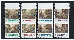 Stamps-1989-17-5-Singapore-Art-series-painting-of-Chinatown-set-pair-of-2-MNH