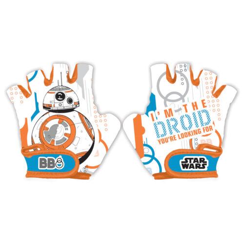 Disney Frozen Minnie Mickey Cars Winnie Kids Bike Cycle Gloves Half Finger 4-6Y