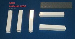 LEGO Lot of 10 White 1x1x5 Bricks