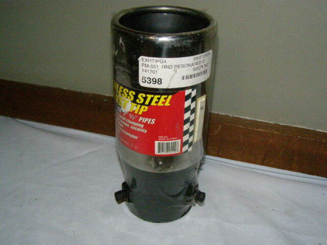 Pilot PM551 Stainless Steel Round Resonated Exhaust Tip