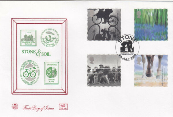 (05563) Gb Stuart Fdc Stone & Sol Pentre Ifan Stone 4 Juillet 2000