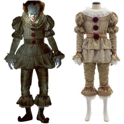 Stephen King It 2017 Movie Pennywise Cosplay Halloween The Clown Costume Outfit