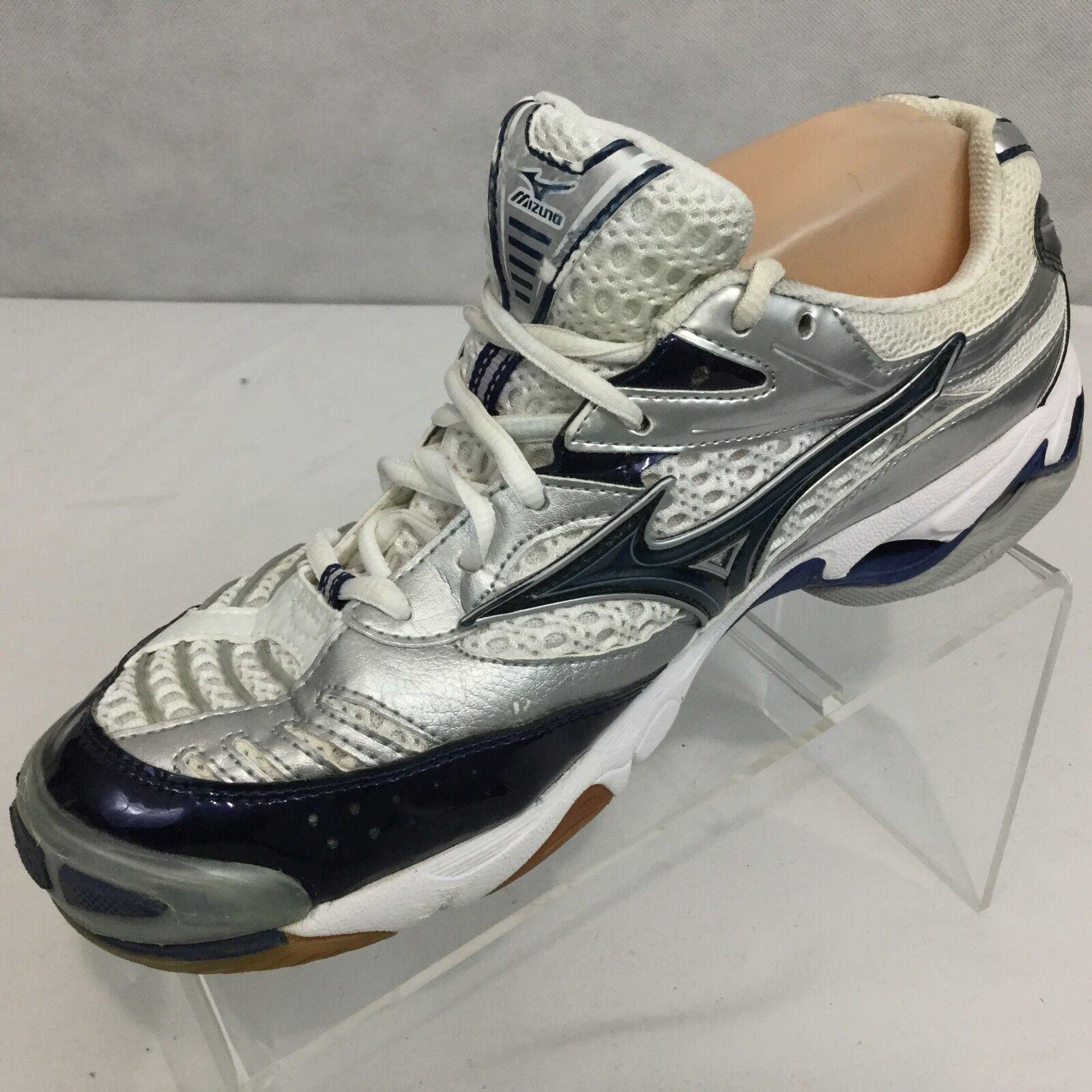 Mizuno Wave Lightning 6 Sneaker Sz 10 Volleyball White bluee Walking Running