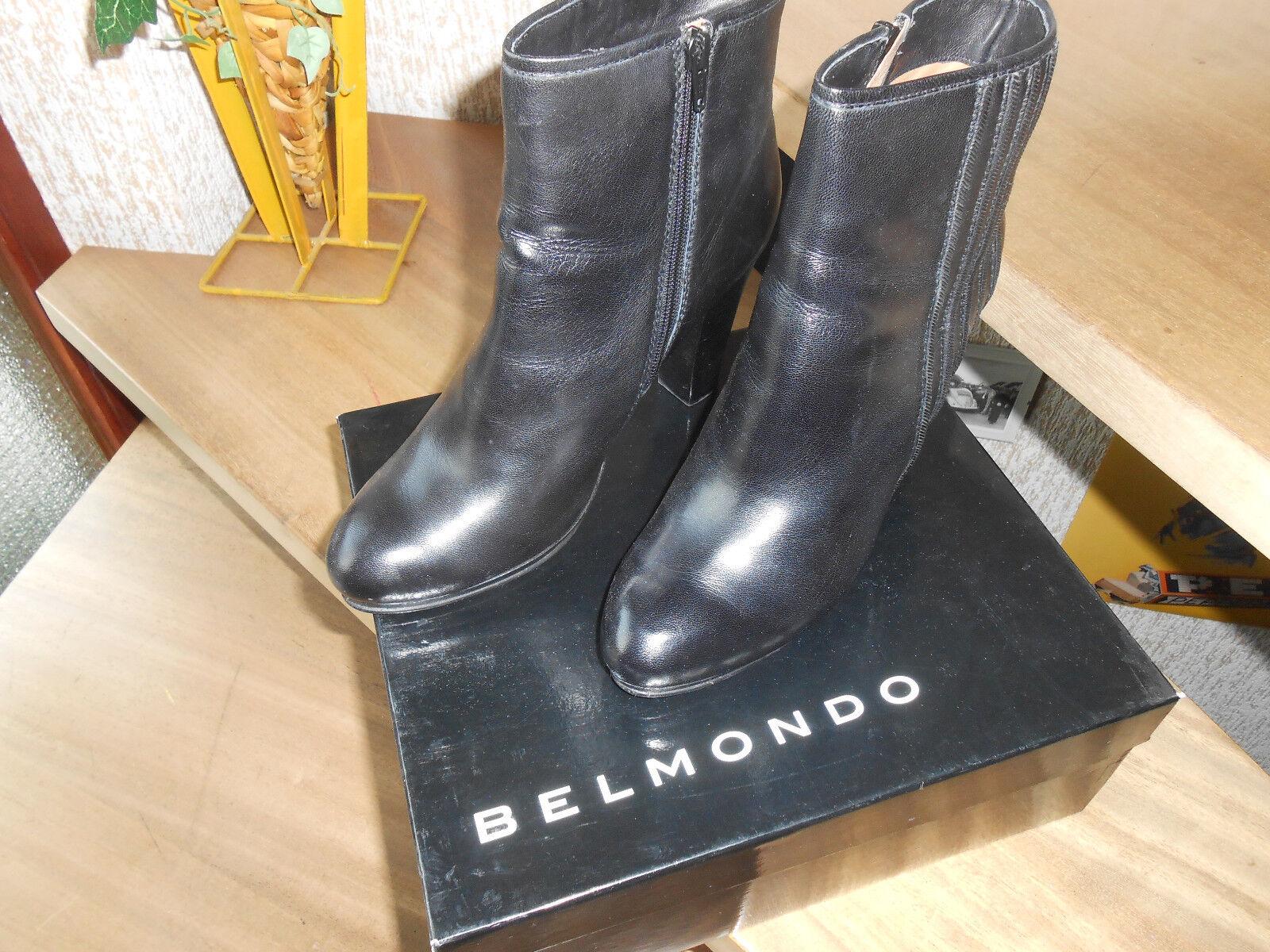BELMONDO Damen Stiefelette Größe 41 Echt Leder, Leder, Leder