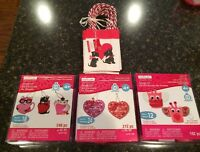 Creatology Foam Group Kits Valentine's Day Craft Kids Ornaments Lot Of 4
