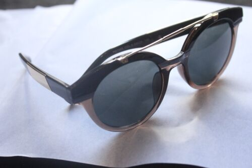 Sunglasses Black Brown Rose Coloured Mirror Reflective Girls Womens 70s Fancy
