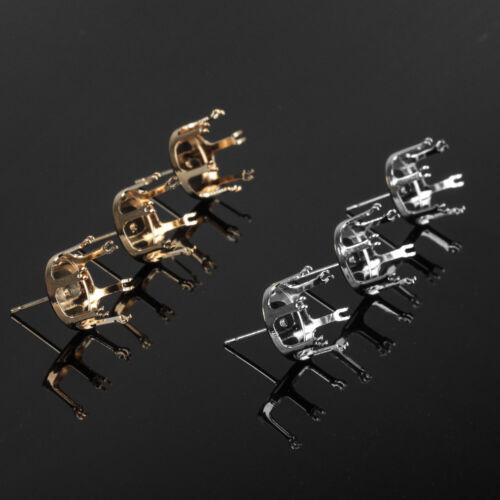 100pcs cuivre Claw paramètres KC plaqué or 12//14//16mm base Fit Stud Boucle d/'Oreille Bricolage