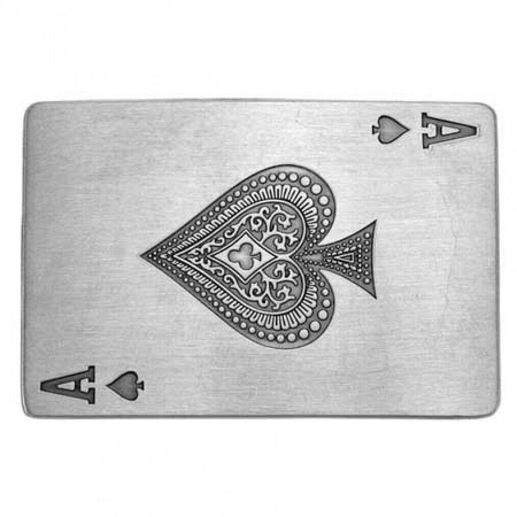 Buckle Pik Ass, Ace of Spades, Spade, Poker, Gambler, Gürtelschnalle