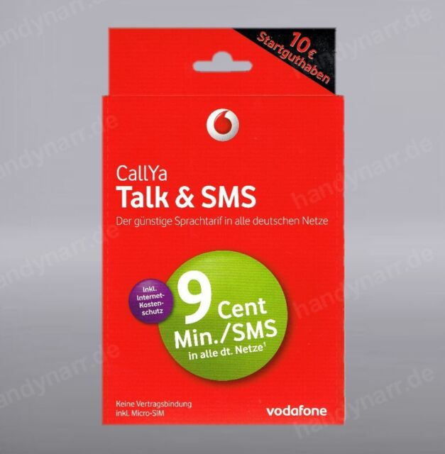 GERMAN VODAFONE  with 10.00 Euro credit
