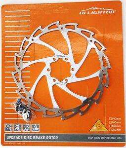 140mm//160mm//180mm//203 Alligator WIND CUTTER MTB Road Disc brake Silver rotor