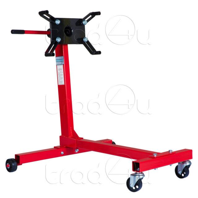 Support moteur sur roulette rotatif 450 kg pour garage - 2 Années Garantie