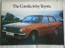 Toyota Corolla 30 brochure c1970's
