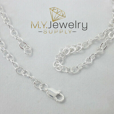 CHOOSE YOUR CLASP Sterling Silver 1.2mm Cable Chain Necklace