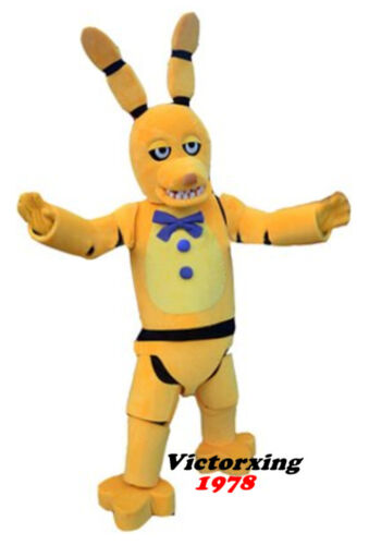 Five Nights At Freddy's FNAF Golden Bonnie Mascot Costume