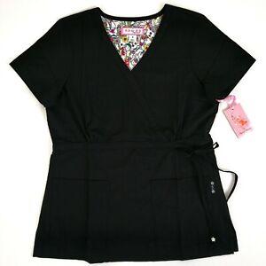 3b5ec05037c Koi Scrub Top Mock Wrap Women's Small 137 Katelyn Black 843515037921 ...