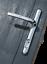 Lock Lock High Security UPVC Lever Door Handle 122mm Screw Positions Chrome