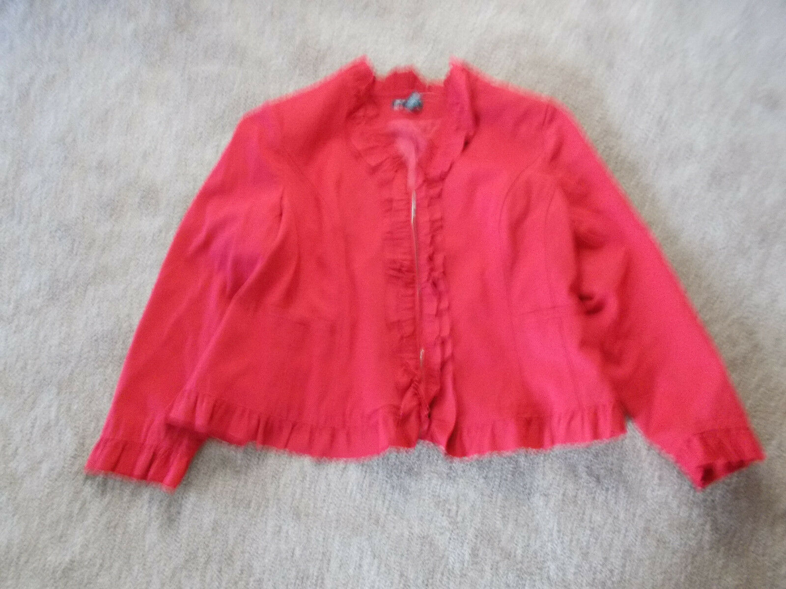 NWT INC-International Concepts Womens Coat-color-Red-Size-2X-Retail-
