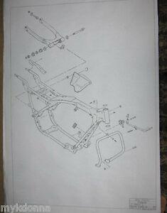 Strange Harley Davidson Frame Forks Set Blueprint Drawing Poster Print Flh Wiring 101 Capemaxxcnl