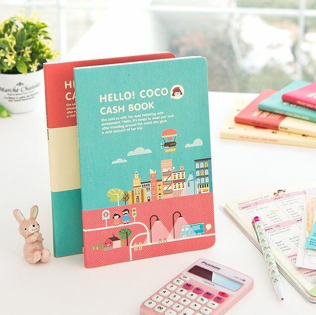 Hello Coco Cash Book Money Record Planner Diary Account Cute Scheduler Organizer