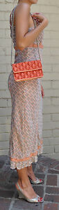MARC-JACOBS-Quilted-Satin-Evening-Bag-Clutch-Orange-NEW