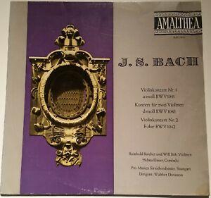 Bach Violinkonzerte Violin Concertos 1 & 2 Reinhold Barchet Will Beh Amalthea