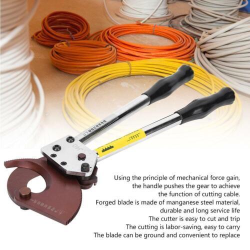 Manual Kabelschere Kabelschneider bis 300mm² mit Ratsche für Kupfer Alu u Kabel