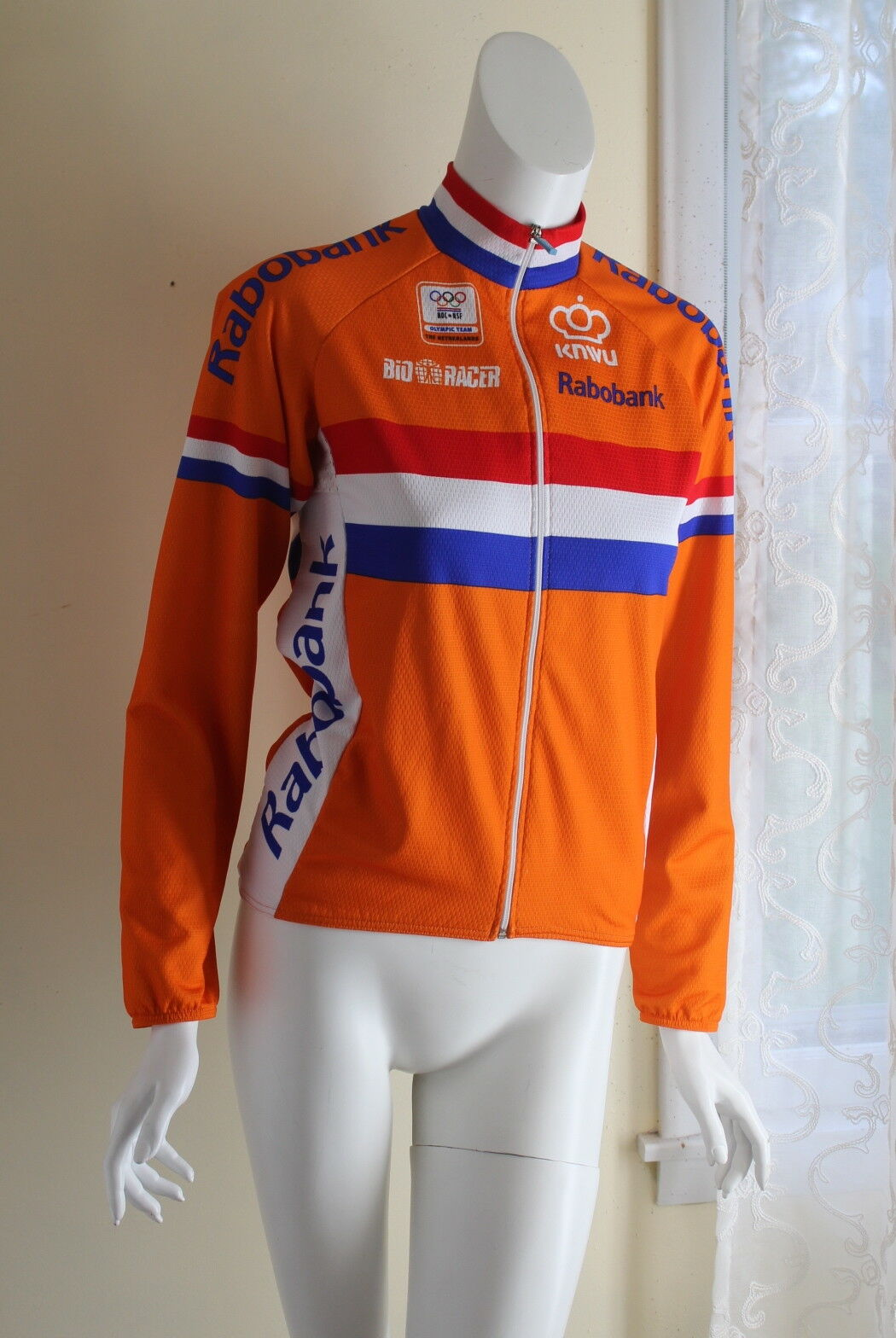 BIO RACER -Sz 2 Small Cycling Jersey Long Sleeve Netherlands Olympic Team