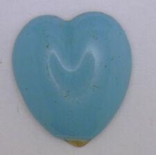 Antique Vintage Robins Blue Enamel Heart Shaped Trim Design Piece As Is  #K331