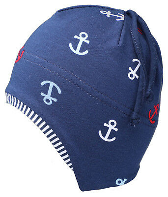 Baby Kinder Jungen Jerseymütze Gr 43-47 Fiebig Bindmütze Maritim Mütze Neu Moderate Price