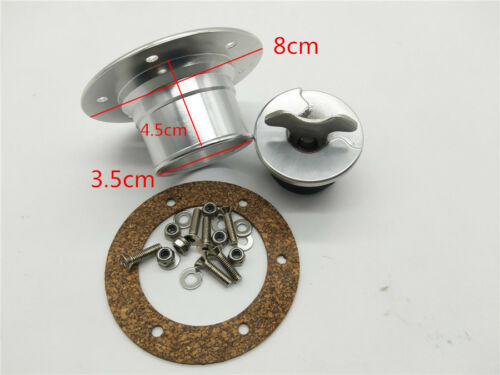 Billet Aluminum Aircraft Style Fuel Cell Gas Cap w// 6 Hole Anodized Flush Mount