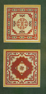 Oriental-Rugs-Samplers-Cross-Stitch-Pattern-chart-from-magazine-2-Miniatures