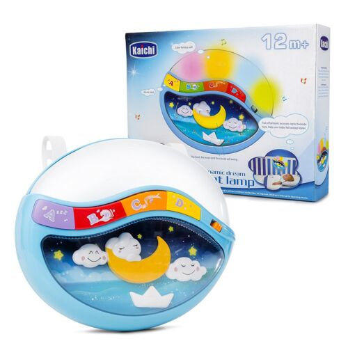 Baby Crib Clip In Lamp w Multiple Melodies Sleep Through The Night Soother Music