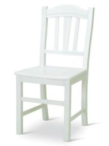 Sedie In Legno Laccate Bianco.Sedia In Legno Laccata Bianca Modello Silvana In Massello Colore
