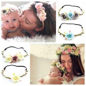 Circle-Weaving-Baby-Mom-Headwear-Girl-Flower-Hairband-Holiday-Bridal-Head-Band