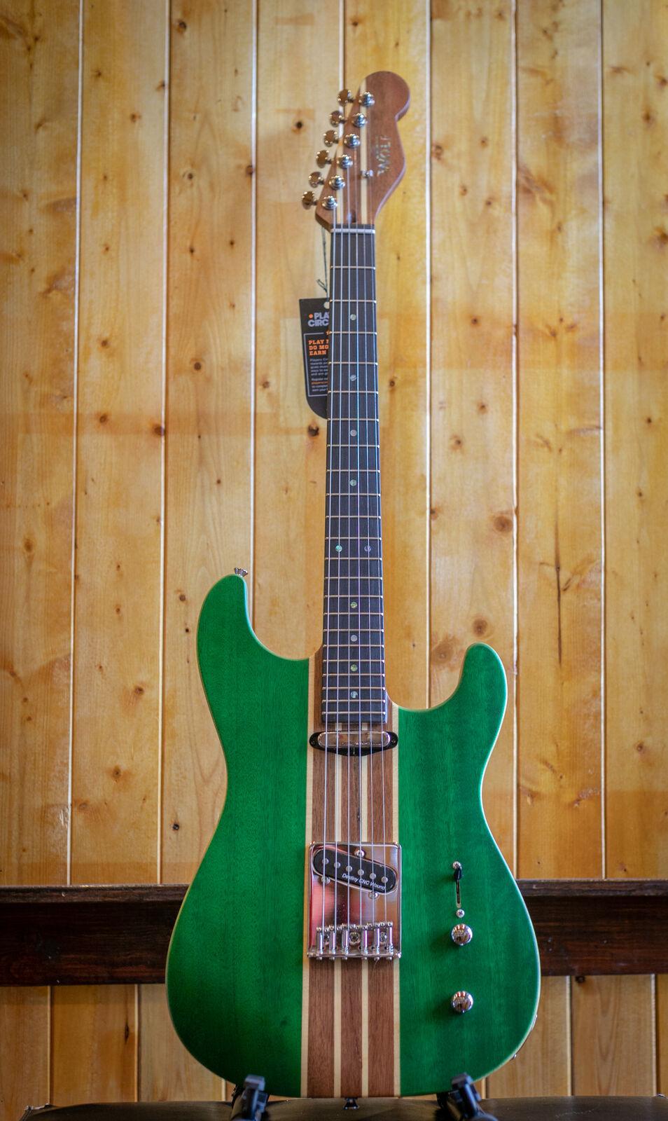 Wolf S1 Electric Guitar - Grün w SKB Hard Case