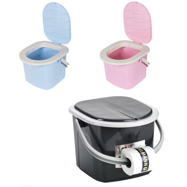Reise WC Toilette Campingtoilette Eimer BranQ 15,5 L Toiletteneimer Zelten