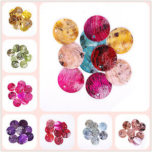 50pcs-Perles-Rondes-Plates-Sequins-en-Coquillage-Creation-18mm-Multicolores