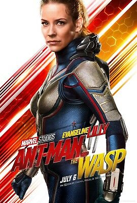 Evangeline Lilly v3 - Paul Rudd 24x36 Ant-Man and the Wasp Movie Poster