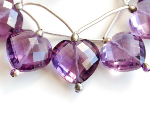 RARE UNIQUE AAA African Amethyst Faceted Heart Bead 1PC ONE OF A KIND!!!