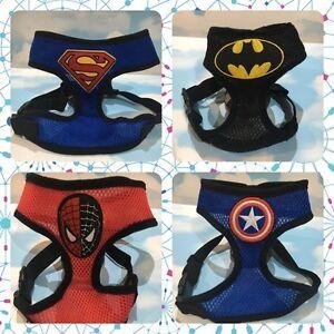 408de70ee952 Image is loading Marvel-Superhero-Dog-and-Cat-Harness-Batman-Superman-