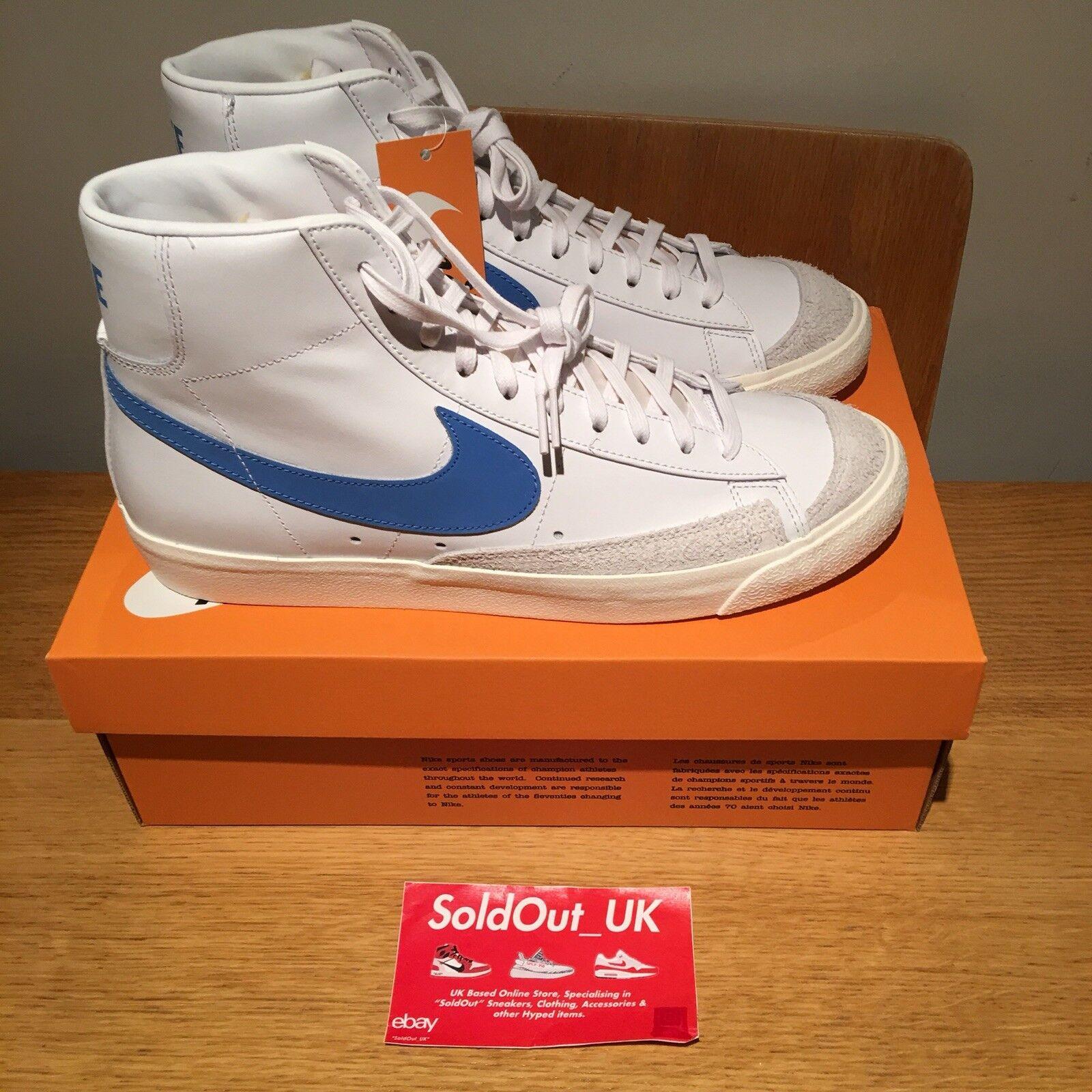 Nike Blazer Mid'77 VINTAGE (2019)  Pacific Blu Bianco Bianco Bianco  UK8 US9  c0e8ae